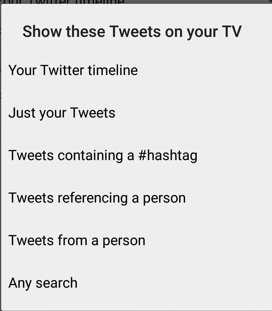Tweets auf dem Fernseher