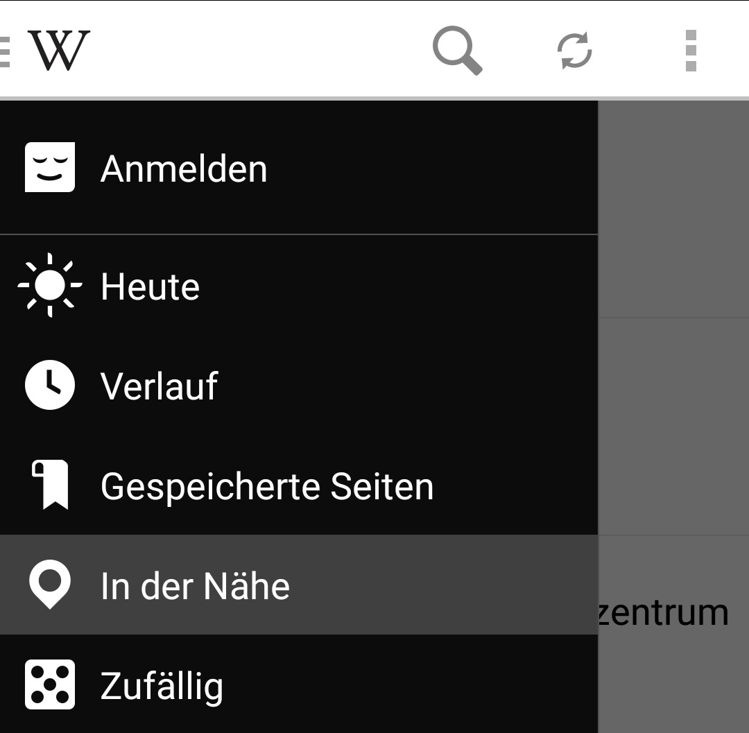 App-gefahren: Wikipedia mit Umkreissuche