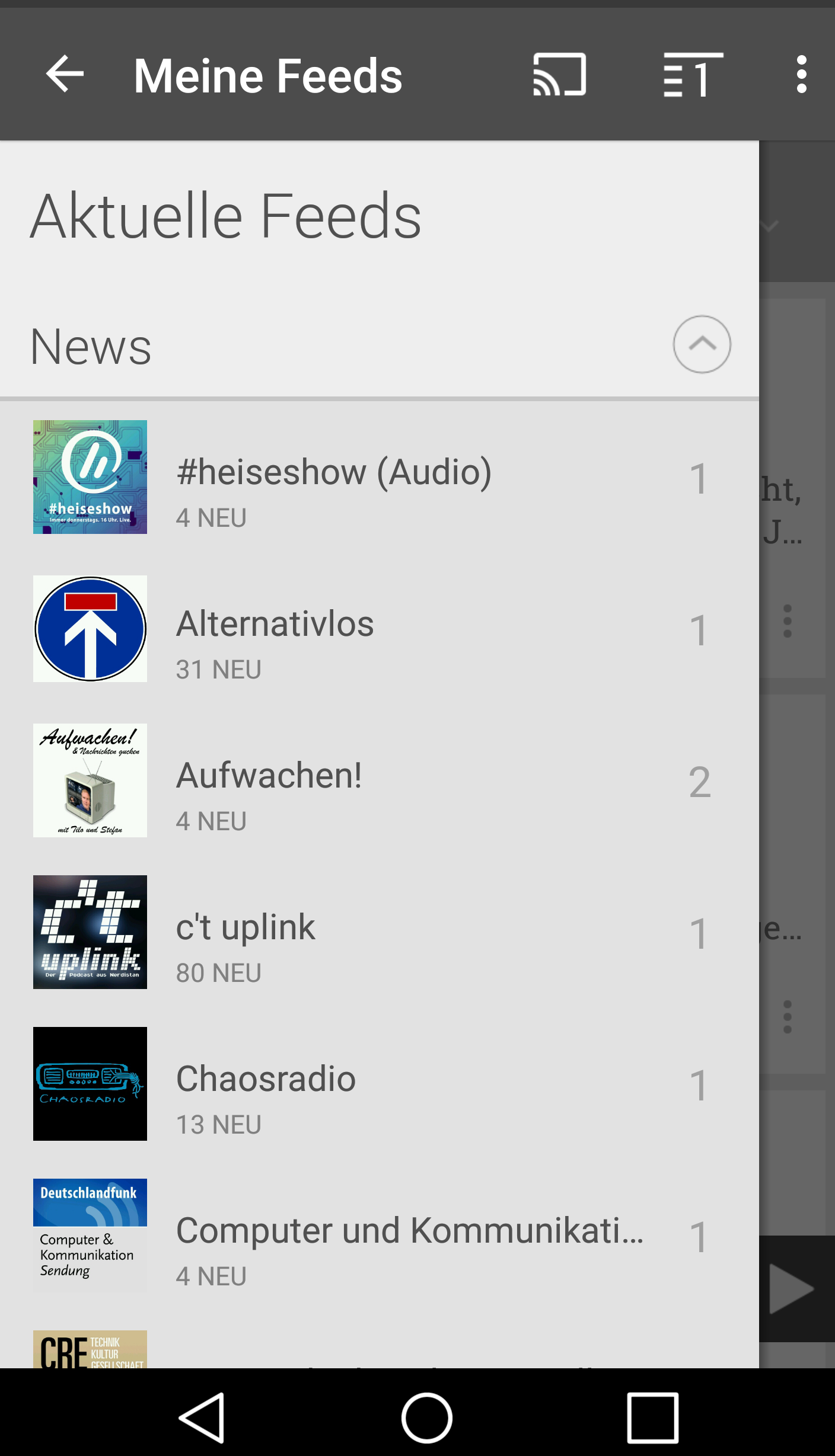 Podcast-Apps für Android