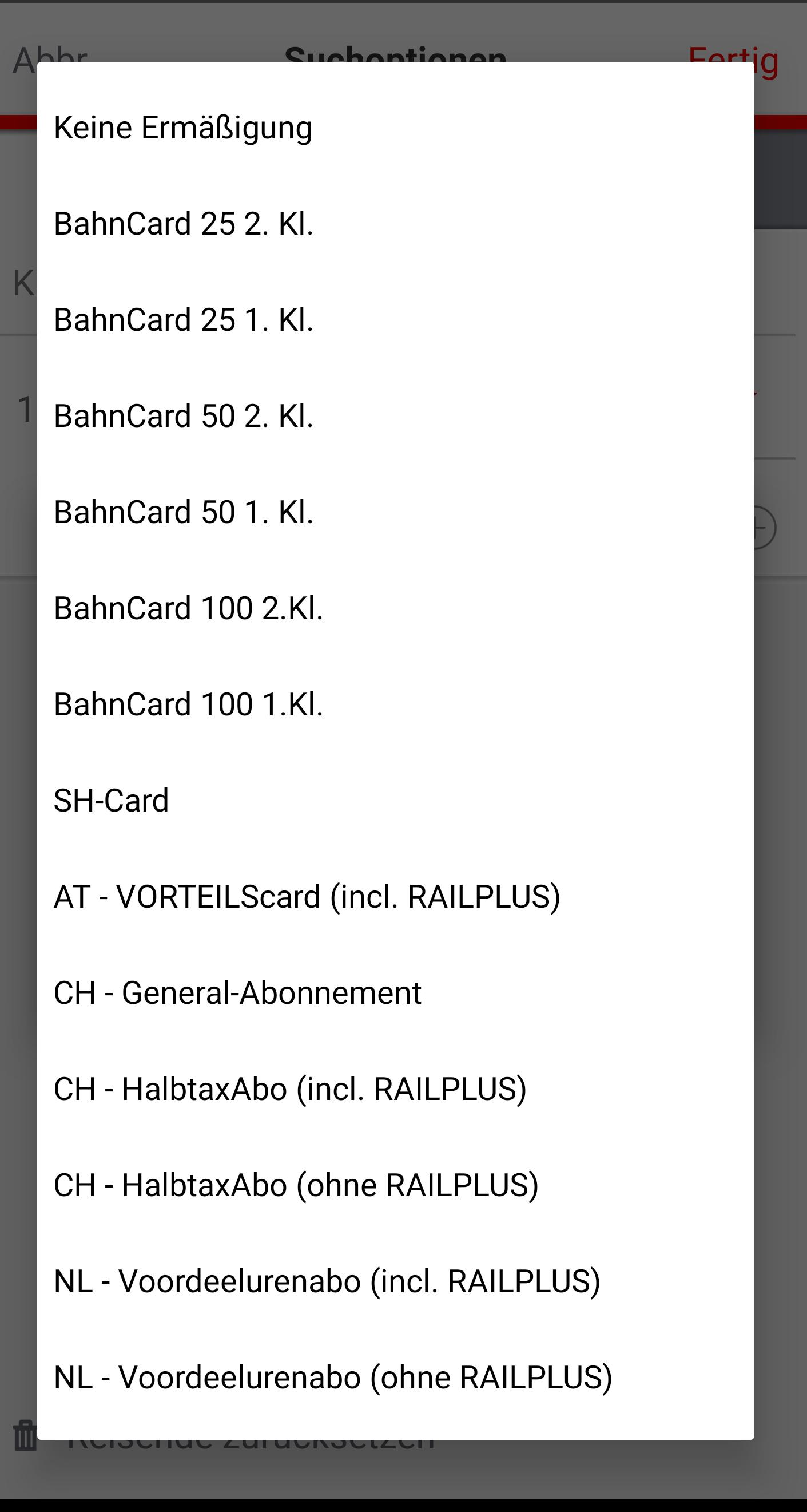 BahnCard100 ist jetzt bei Fahrten ins Ausland angebbar