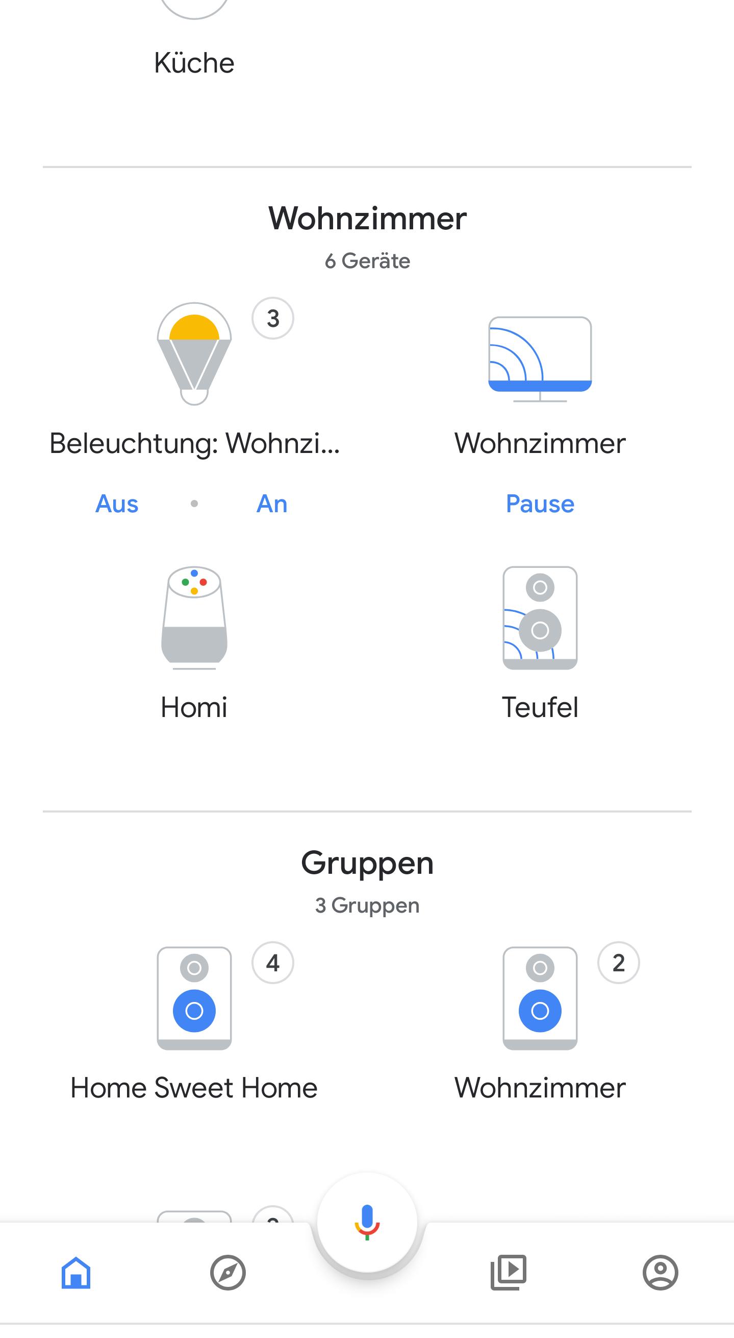 ... dazu bekommt man in der Google Home App eine Übersicht über alle Smart-Home-Geräte....